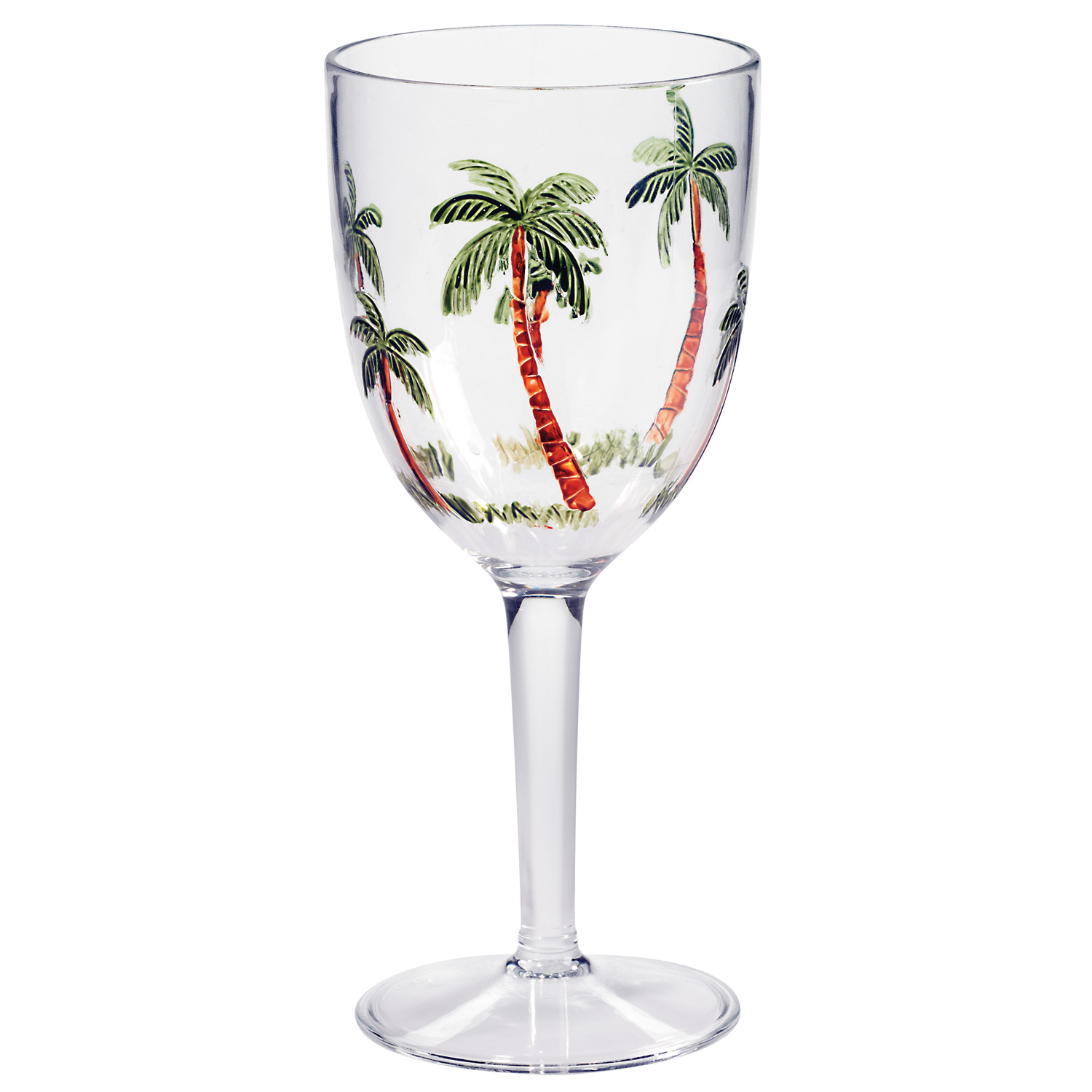 Palm Breeze 14 Oz Acrylic Wine Glass